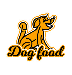 Logo on the theme of food for dogs purebred dog vector