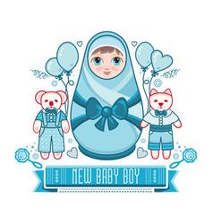 Newborn little baby matryoshka vector