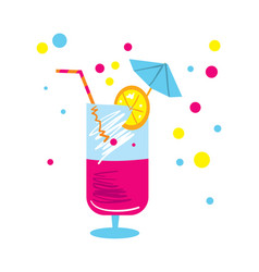 Party cocktail isolated icon vector