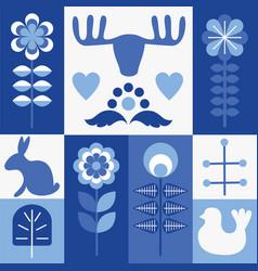 Scandinavian style elements vector
