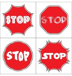 Set a stop sign vector image vector image