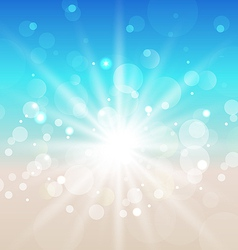 Summer beach background with sunlight vector image vector image