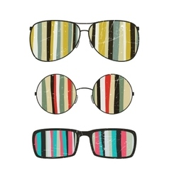 Sunglasses with striped reflection vector