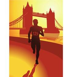 The runner in london vector