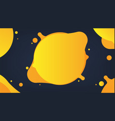yellow liquid abstract background vector image vector image