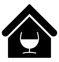 Alcohol bar flat icon vector