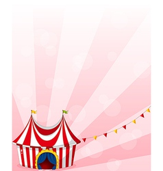 A stationery with a circus tent design vector