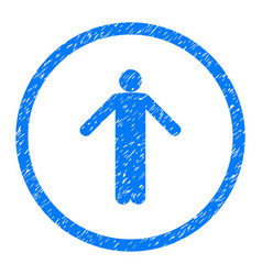 Ignorance person pose rounded grainy icon vector