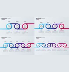 Timeline chart infographic designs for data vector