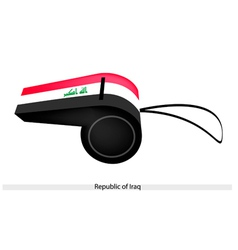 A whistle of the republic of iraq vector