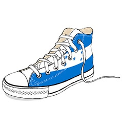 Hand draw modern sport shoes with honduras flag vector