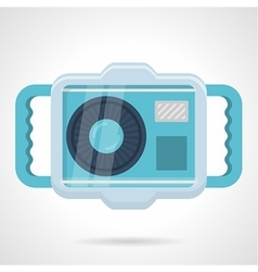 Flat color icon for scuba camera vector