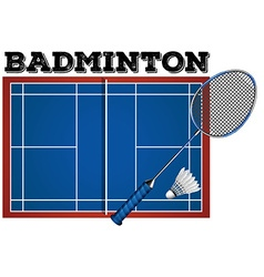 Badminton court and equipment vector