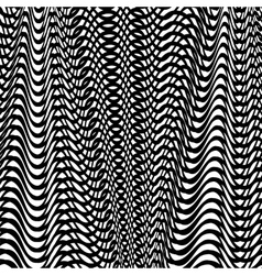 Black wave background vector