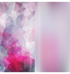 Set of abstract polygon triangles and blurred vector