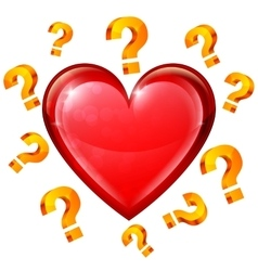 Heart and Question Signs vector image
