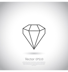 Gem icon vector