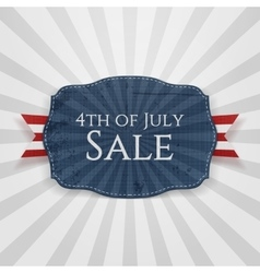Fourth of july sale holiday badge vector