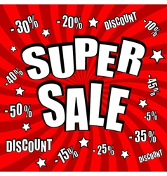 Super sale comic poster vector image
