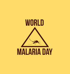 Background world malaria day style vector