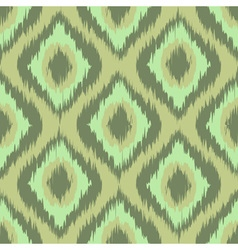 Colorful fabric ikat diamond seamless pattern vector image vector image