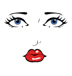 comic styled beauty face vector image
