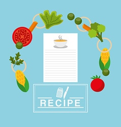 Cooking recipe design vector