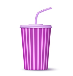 fast food paper cup of drink vector image