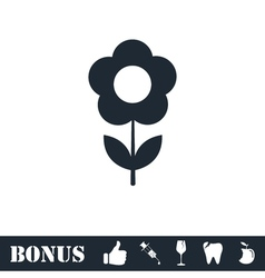 Flower icon flat vector image