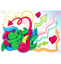 fun graffiti vector image vector image