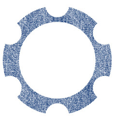Gear wheel fabric textured icon vector