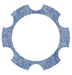 gear wheel fabric textured icon vector image vector image