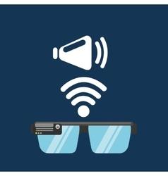 Glasses technology speaker application media vector