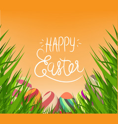happy easter with egg vector image