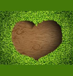 Heart of the grass vector