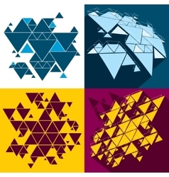 Hipster triangle abstract backgrounds set vector image