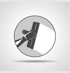 Icon of trowel with hand plastering vector