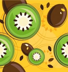 kiwi background vector image vector image