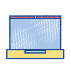 Laptop electronic technology to information vector