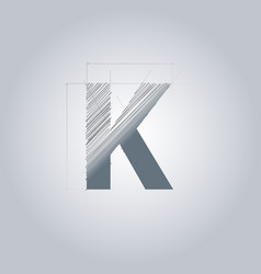 letter k logo alphabet logotype architectural vector image