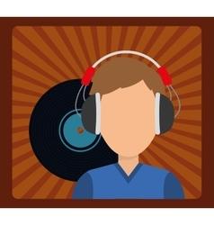 Musician listening melody vector