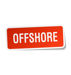 Offshore square sticker on white vector