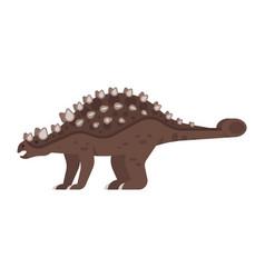 Prehistoric animal - ankylosaurus vector