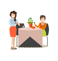 Restaurant guest in flat style vector