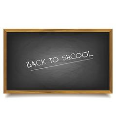 School black Board vector image vector image