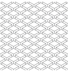 Seamless pattern witheffect cubes in perspective vector