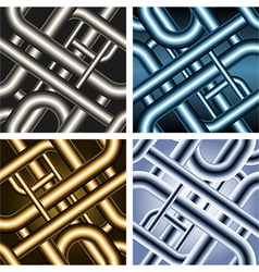 Seamless pipe pattern vector image vector image