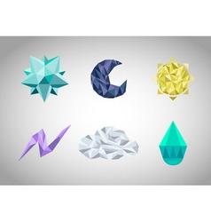 Set of polygonal geometrical figures vector