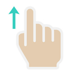 Swipe up flat icon touch and hand gestures vector