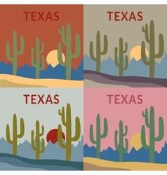 Texas t-shirt design set vector image